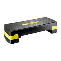 Степ-платформа 3-ступінчаста 4FIZJO 4FJ0149 Black/Yellow, фото 2