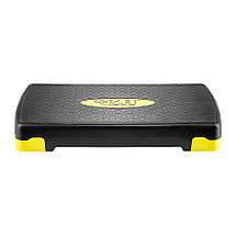 Степ-платформа 3-ступінчаста 4FIZJO 4FJ0149 Black/Yellow, фото 3