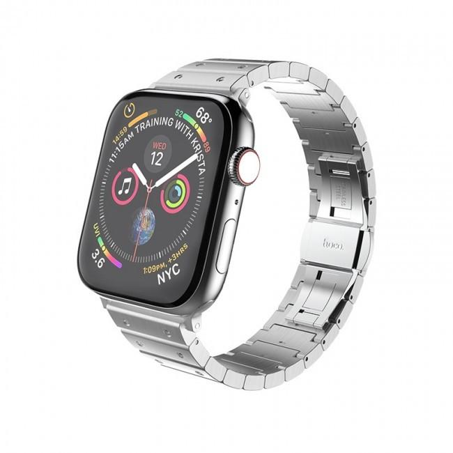 Металлический ремешок Hoco WB07 Precious steel strap для Apple Watch Series 1/2/3/4/5 (38/40mm) Silver
