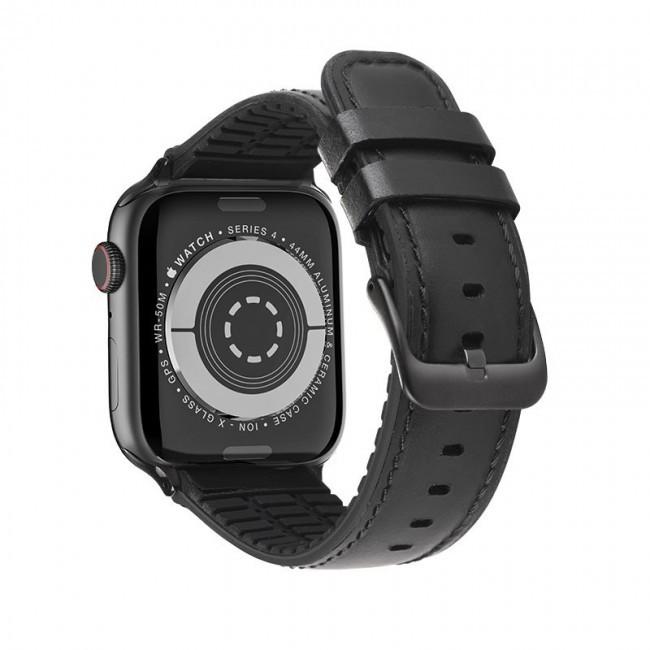 Kожаный ремешок Hoco WB18 Fenix leather strap для Apple Watch Series 1/2/3/4/5 (42/44mm) Black