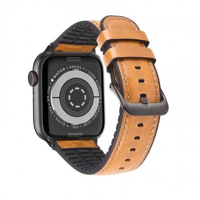 Kожаный ремешок Hoco WB18 Fenix leather strap для Apple Watch Series 1/2/3/4/5 (42/44mm) Khaki