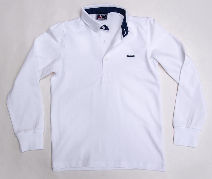 Реглан-поло белого цвета для мальчика, CEGISA