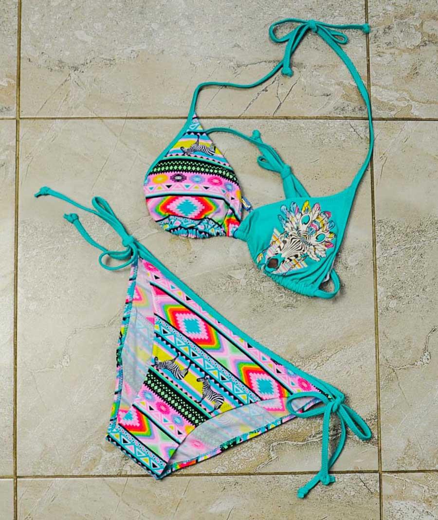 Купальник раздельный разноцветный для девочки, RIVAGE LINE
