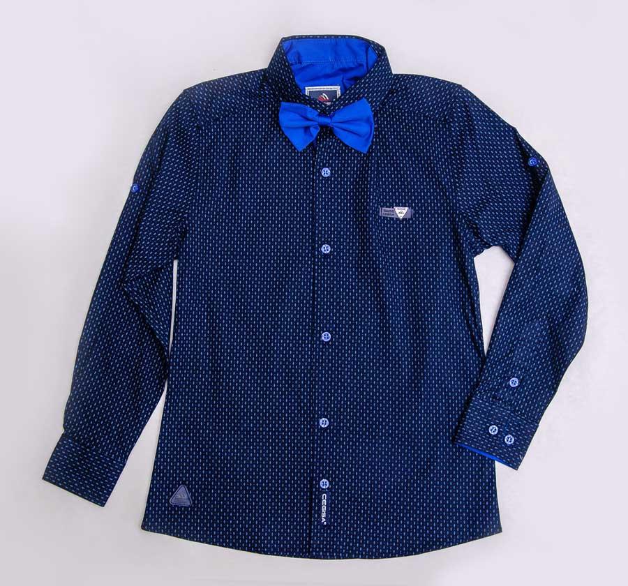 Рубашка синего цвета с бабочкой для мальчика, CEGISA