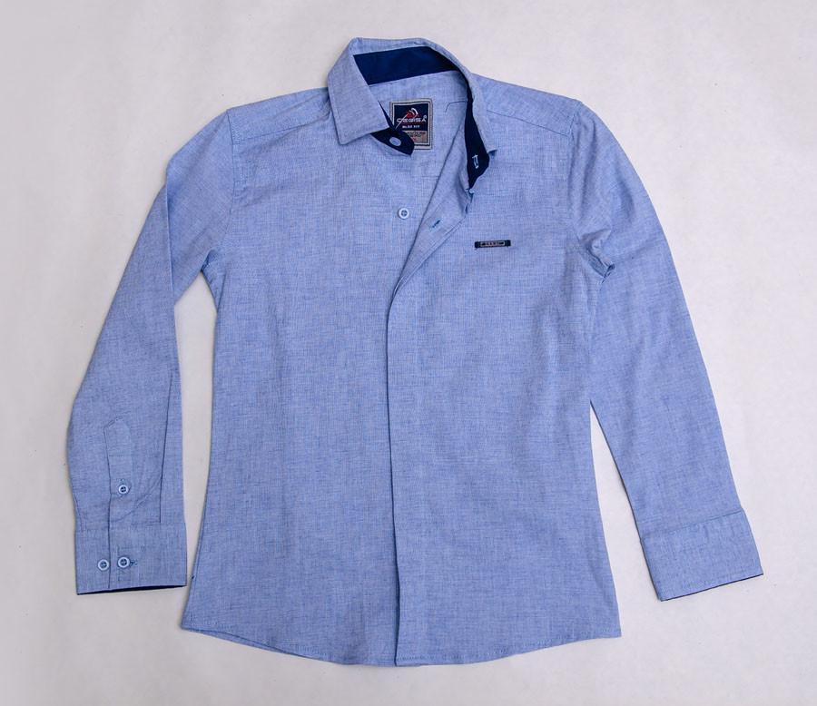 Рубашка школьная голубого цвета для мальчика, CEGISA