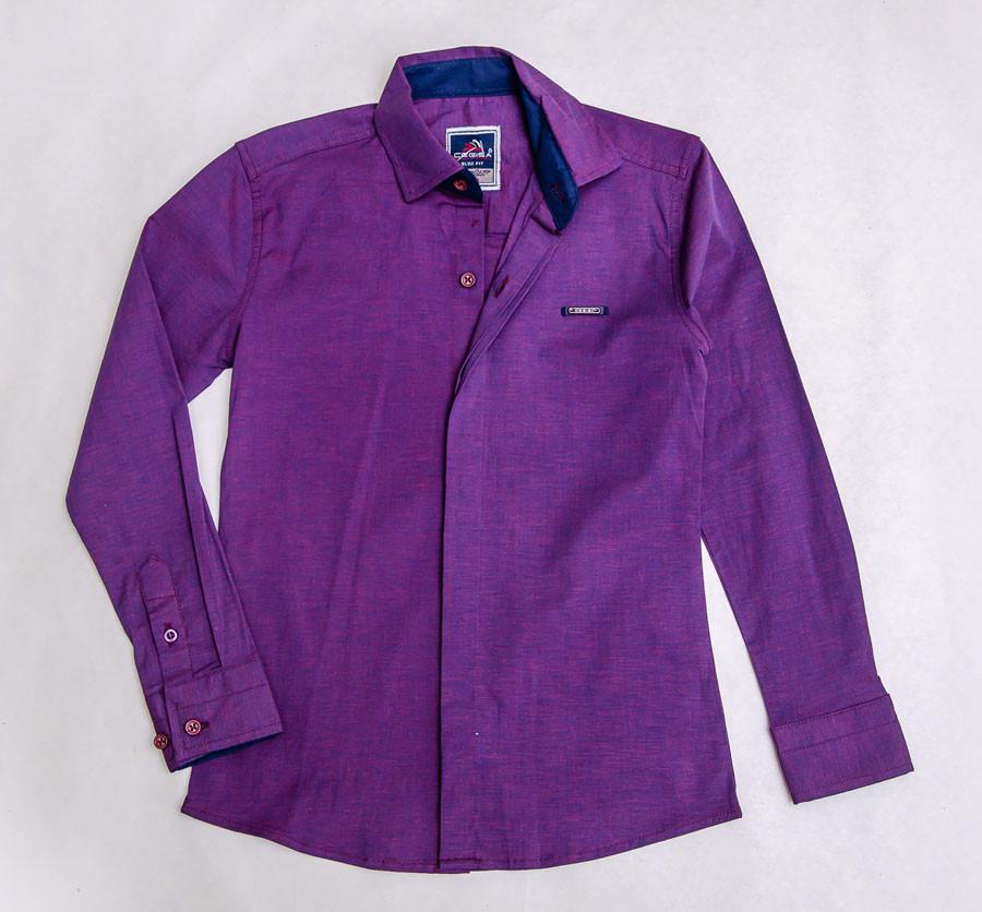 Рубашка школьная сиреневого цвета для мальчика, CEGISA