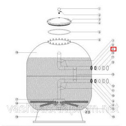 Aquaviva Муфта-фланец крепления 1050-1250 мм Female