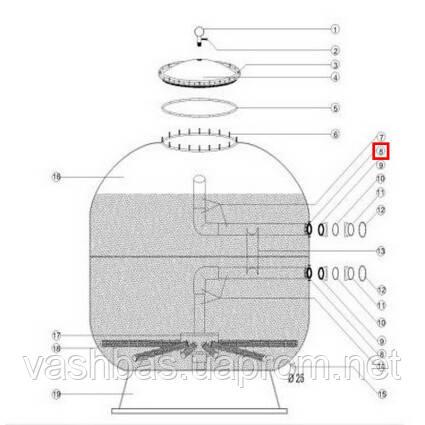Aquaviva Муфта-фланец крепления 1050-1250 мм male