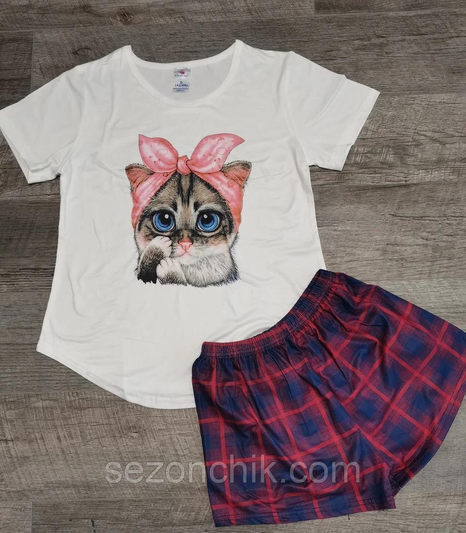 Пижама футболка и шорты летняя
