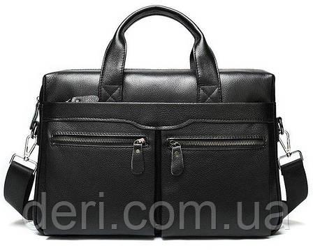 Сумка мужская Vintage 14579 Черная, Черный, фото 2