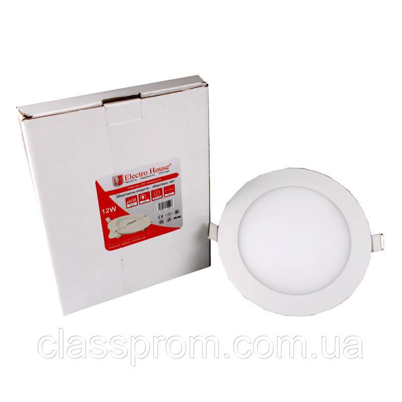 ElectroHouse LED панель круглая 12W 4100К 1080Lm Ø 170мм