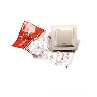 ElectroHouse Выключатель с подсветкой латте Enzo  IP22