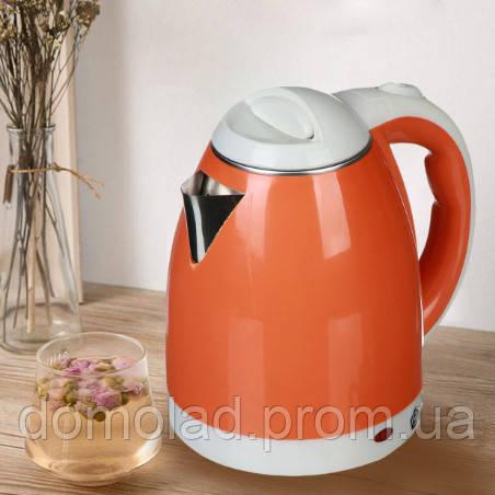 Электрочайник Domotec MS-5022 Мощность 1500 Вт Чайник Электрический Оранжевый 2 Л
