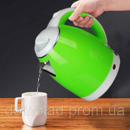 Электрочайник Domotec MS-5025 Мощность 1500 Вт Чайник Электрический Зелёный 2 Л