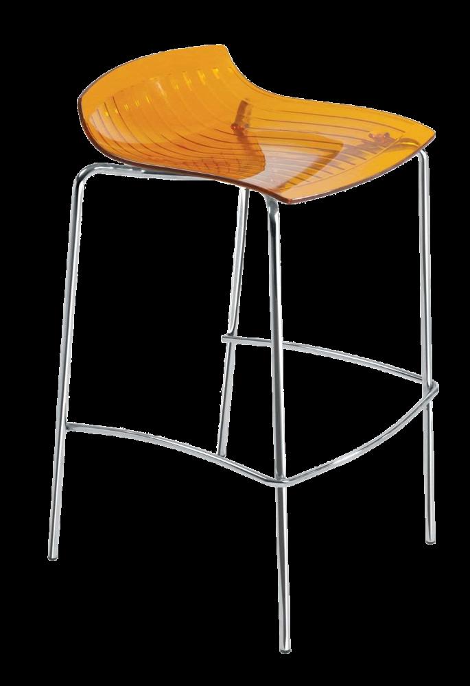 Барный стул Papatya X-Treme BSS прозрачно-оранжевый