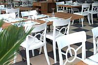 Стул Papatya Opera-S сиденье белое, верх прозрачно-чистый, фото 4