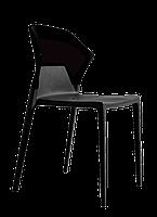 Стул Papatya Ego-S черное сиденье, верх черный, фото 5