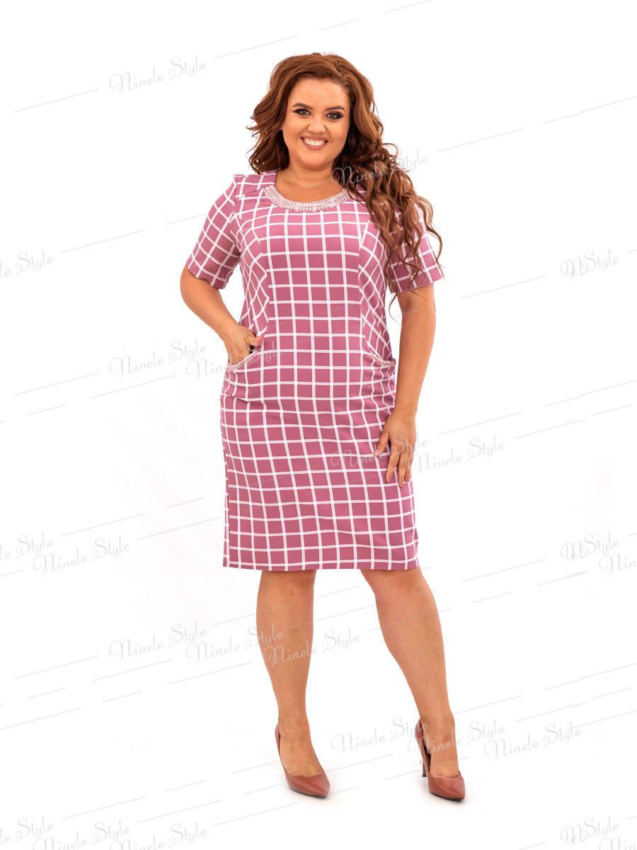 Нарядное платье в клетку 473 54
