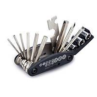 Мультитул для велосипеда 16 в 1, набор ключей, шестигранников, отвёрток вело