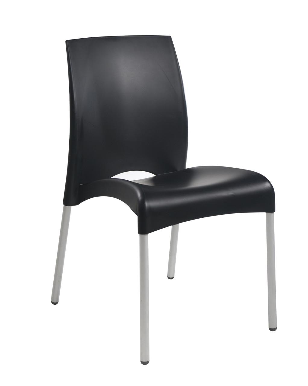 Стул Papatya Vital-S черный 09 алюминиевые ножки