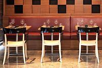Кресло Papatya Hera-K черное сиденье, верх прозрачно-оранжевый, фото 2