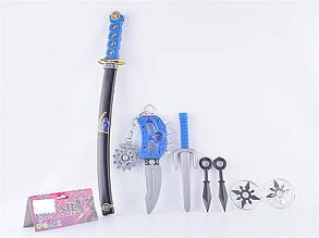 Іграшка меч і набір зброї ніндзя (72 шт / ящ)