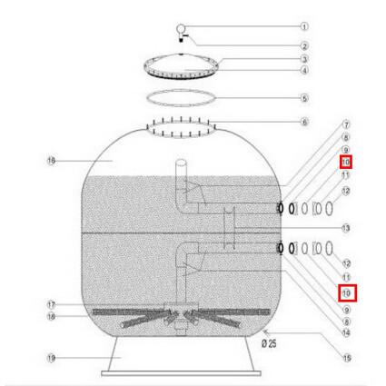 Aquaviva Плоская резиновая прокладка муфты-фланца Aquaviva 1400 мм