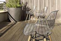 Кресло Papatya Opal-Wox белый, рама лакированный бук венге, фото 2