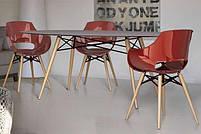 Кресло Papatya Opal-Wox белый, рама лакированный бук венге, фото 3