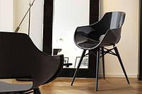Кресло Papatya Opal-Wox белый, рама лакированный бук венге, фото 4