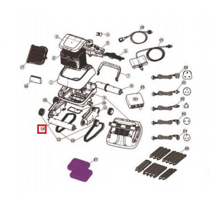 Aquaviva Збірна передня циліндрична трубка для Aquaviva 7310 Black Pearl (71150)