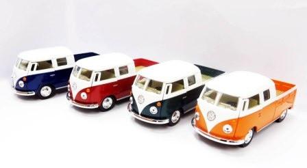 "Модель автобус ""KINSMART"" 5 'KT5387W VOLKSWAGEN BUS Double-Cab (1963) метал.інерц.откр.дв.4цв.кор. / 96 /"