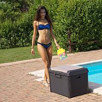 Сундук пластиковый Santorini Plus 125 л коричневый с подушкой Toomax, фото 6