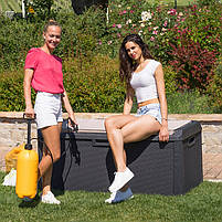 Сундук пластиковый Santorini Plus 550 л коричневый с подушкой Toomax, фото 5
