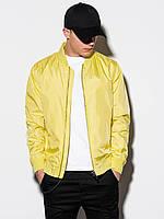 Мужская повседневная куртка-бомберка C439 - жовтий - XXL