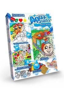 Водная раскраска в коробке «Aqua painter №3» 4 картинки, 3 техники Danko Toys