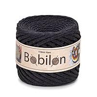 Ленточная пряжа Bobilon Medium (7-9мм). Graphite Графит