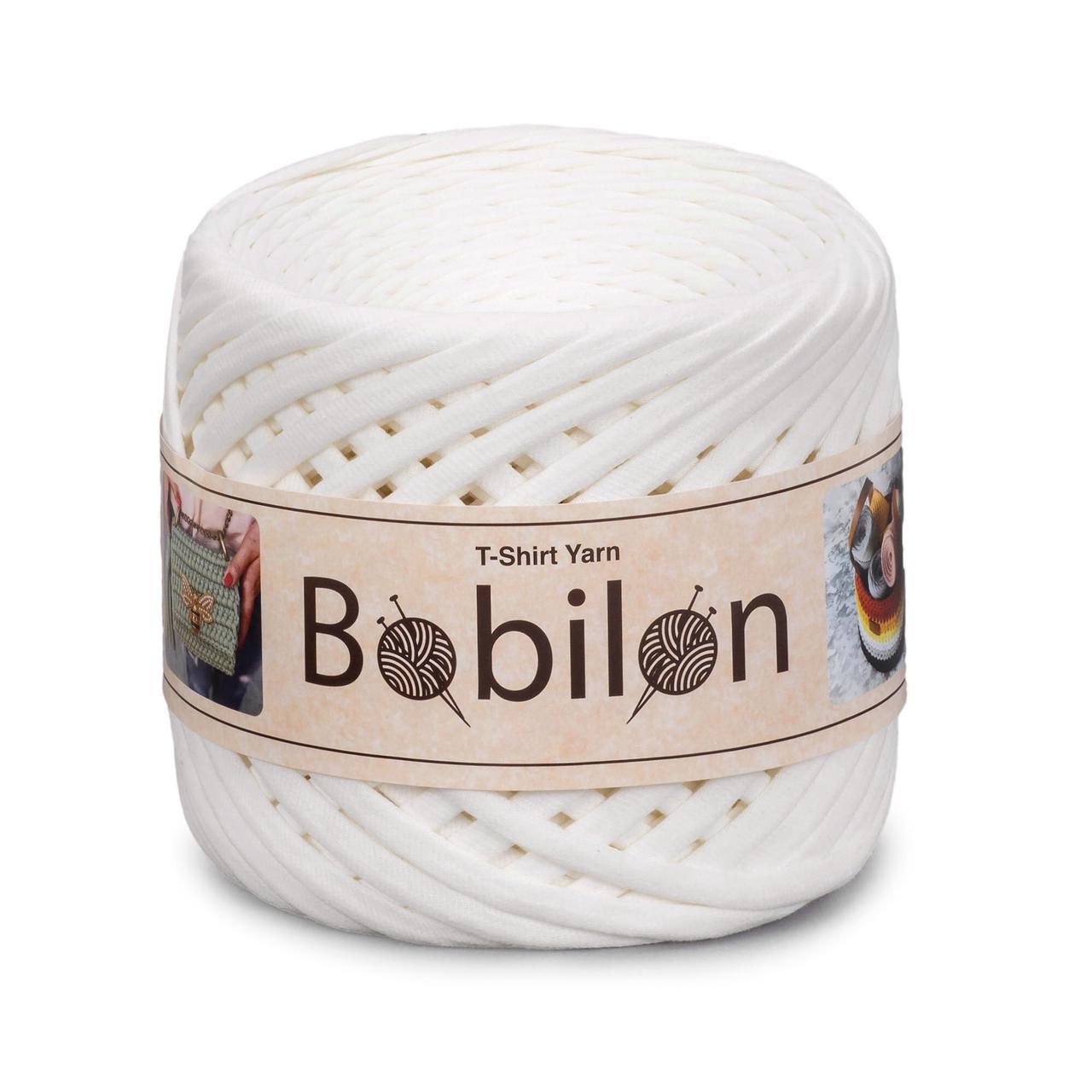 Пряжа трикотажна Бобилон Micro (3-5мм). Ice-Cream Пломбір