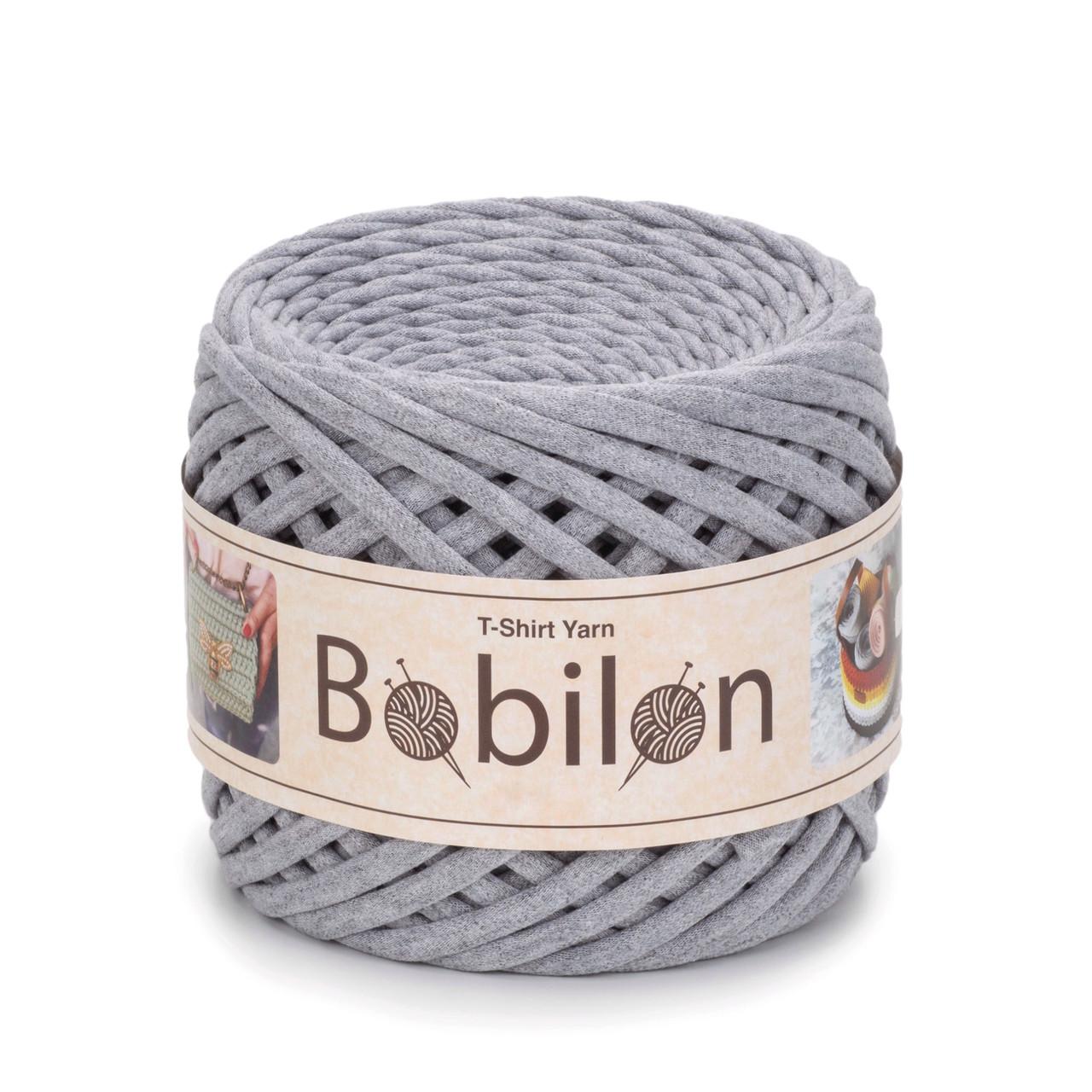 Толстая пряжа Bobilon Medium (7-9 мм). Gray Melange  Серый меланж