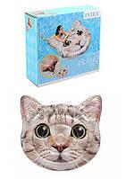 """Надувной пляжный матрас Intex 58784 EU """"Котик"""" размер 147х135 см"""