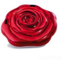 """Надувной пляжный матрас Intex 58783 EU """"Роза"""" размер 137х132 см"""