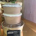 Паперовий Контейнер для їжі салату 1350мл Крафт +прозора кришка плоска (25шт), фото 2