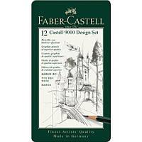 Набор графитных карандашей Faber-Castell 9000 12 шт 5В-5Н - 119064