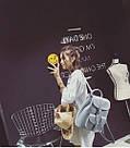 Рюкзак женский стильный в стиле Графеа серый., фото 3