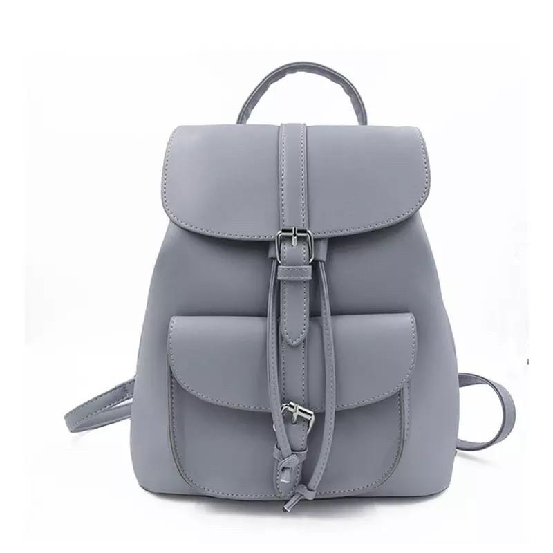Рюкзак женский стильный в стиле Графеа серый.