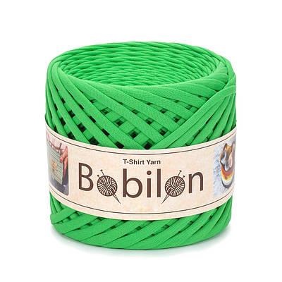 Трикотажная пряжа Бобилон Micro (3-5мм). Green Apple Зеленое яблоко