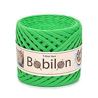 Ленточная пряжа Bobilon Medium (7-9 мм). Green Apple Зеленое яблоко