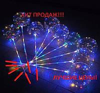 Воздушный светящийся шар, Светящиеся Шарики LED шары BOBO, разноцветное свечение 3 режима 3 батарейки  30 led, фото 1