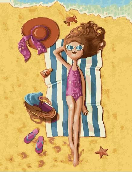 Картина по номерам На пляже