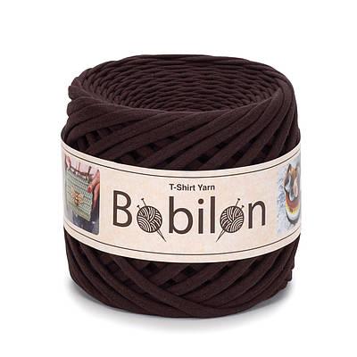 Трикотажная пряжа Бобилон Micro (3-5 мм). Hot Chocolate Шоколад